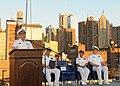 US Navy 100530-N-1831S-223 Adm. John C. Harvey Jr. speaks during a Sunset Parade aboard USS Iwo Jima (LHD 7).jpg