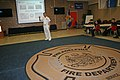 US Navy 110524-N-ZL585-160 Rear Adm. Thomas E. Beeman speaks on the topic of Navy medicine to cadets and staff of the Philadelphia Fire Department.jpg