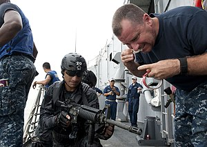 Special Warfare Diving and Salvage - SWADS personnel at a joint military exercise with the US Navy in 2011.