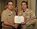 US Navy 120107-N-AZ513-051 A Sailor is awarded the Purple Heart medal.jpg
