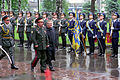 Ukrainian Minister of Defense, General of the Army, Olekasander Kuzmuk hosts a full honor military arrival ceremony for the Honorable Donald H. Rumsfeld, U.S. Secretary of Defense, at Kiev, Ukraine, on Jun. 5 010605-D-WQ296-027.jpg