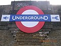 Underground Sign, Northern Line Rail Bridge, North Circular Road, London NW11 - geograph.org.uk - 404524.jpg