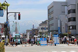 Uozu, Toyama - view from Uozu station