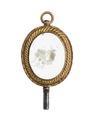 Urnyckel i form av en medaljong med blommor, 1800-tal - Hallwylska museet - 110378.tif