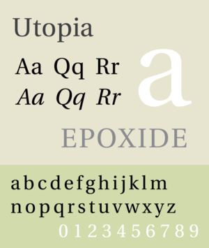 Utopia (typeface) - Image: Utopia sample image