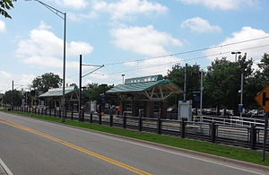 VA Medical Center (Metro Transit station) - The station in 2014