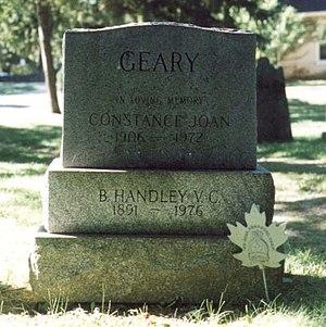 Benjamin Handley Geary - Benjamin Geary's headstone in Niagara-on-the-Lake, Ontario