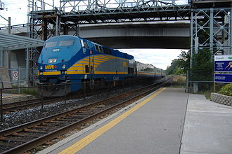 Via Rail - Via Rail P42DC pulling LRC coaches towards Montreal