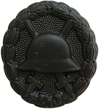 Wound Badge - 1918 version in black