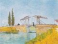 Van Gogh - Die Brücke von Langlois in Arles mit Dame mit Regenschirm.jpeg