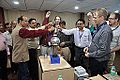 Van de Graaff Generator Experimentation - Indo-Finnish-Thai Exhibit Development Workshop - NCSM - Kolkata 2014-11-27 9758.JPG