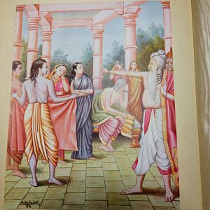 Vasistha - Vasistha curses Kaikeyi