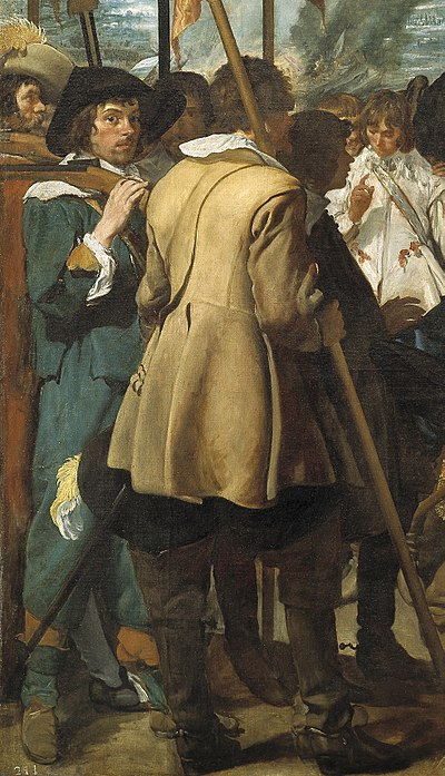 Dutch soldiers: detail from The Surrender of Breda 1625 Velazquez surrender breda soldiers.jpg