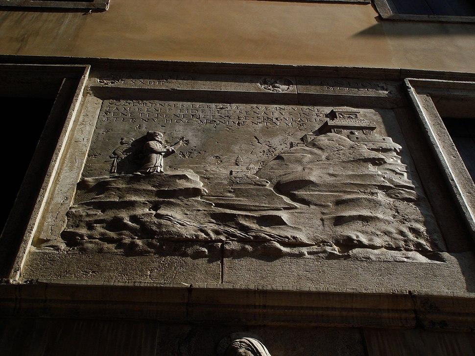 Venezia - Ex Scola degli albanesi (sec. XV) - Foto Giovanni Dall'Orto, 12-Aug-2007 - 11 - Maometto II assedia Scutari