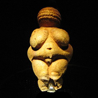 The Venus of Willendorf, a figurine with exaggerated sexual characteristics VenusWillendorf.jpg