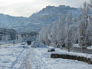 Cosenza - View of the Old Town in the snow