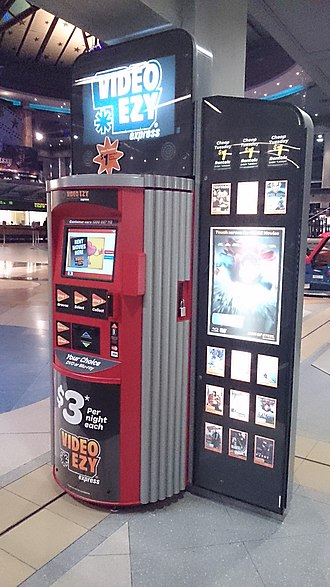 Video Ezy - A Video Ezy Express rental kiosk located within The Jam Factory on Chapel Street, Melbourne.