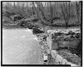 View West of Main Dam Structure - Pearle Cotton Mill and Dam, Elbert County Road 245, Elberton, Elbert County, GA HAER GA,53-ELBE.V,1-19.tif