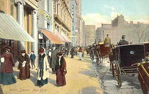 Union Square, Manhattan - Union Square in 1908