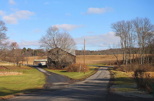 View of southeastern Fishing Creek Township, Columbia County, Pennsylvania