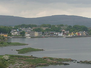 Kinvara - A view of Kinvara from Dunguaire Castle.