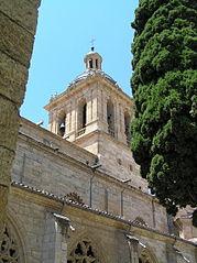 Vista de la Torre de la Catedral de Ciudad Rodrigo desde la plaza de Amayuelas.jpg