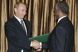 Vladimir Putin in South Africa 5-6 September 2006-10.jpg