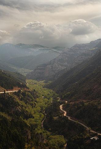 Vouraikos - Image: Vouraikos Gorge Peloponnese