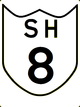 State Highway 8 shield}}