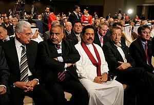 Mahinda Rajapaksa - President Mahinda Rajapaksa at the World Economic Forum session in Jordan on May 15, 2009 just 3 days before the death of LTTE head Vellupillai Prabhakaran