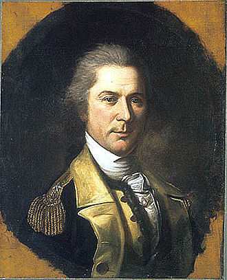 Maryland and Virginia Rifle Regiment - Otho Holland Williams by Charles Willson Peale. Williams was initially first lieutenant and later captain of Capt. Thomas Price's Independent Rifle Company in 1775 and early 1776.