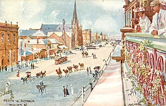 William Street, Perth - William St.by Albert Henry Fullwood 1911/1912)