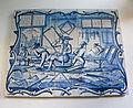 WLANL - MicheleLovesArt - Harlinger Aardewerkmuseum - Tegeltableau met timmerwerkplaats, Makkum (Tichelaar), 18de eeuw.jpg