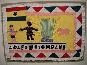 Ashanti–Fante War - Image: WLA haa Asafo Flag