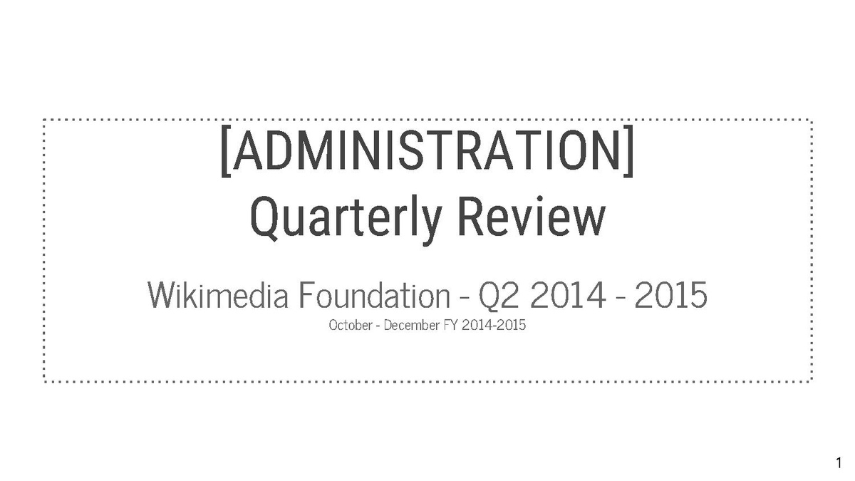 Wikimedia monthly activities meetings/Quarterly reviews ...