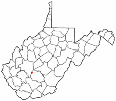 Location of Smithers, West Virginia