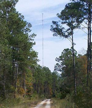 WYLK - WYLK transmitter tower near Lacombe, LA