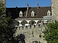 Waidhofen an der Ybbs - Rothschildschloss - Burgmauer mit verglaster Aussicht.jpg