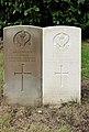 Wall (J) and Lawton (Edward) CWGC gravestones, Flaybrick Memorial Gardens.jpg