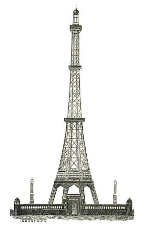Watkin's Tower - The winning design of Watkin's Tower (proposal n°37). It was later scrapped and replaced by a four-legged design