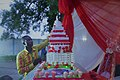 Wedding cake in arrangements for a modern wedding at Cotonou town in Benin.jpg