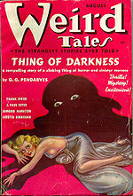 Weird Tales cover image for August 1937