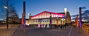 Live at Wembley (Beyoncé album) - Live at Wembley was filmed at the Wembley Arena (pictured) in London