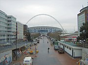 New Wembley Stadium looking south, down the new Wembley Way, January 2007