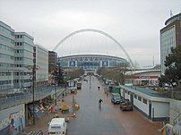 A view of the second Wembley Stadium, due to o...