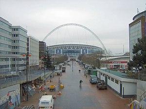 Olympic Way - Image: Wembley Stadium down Wembley Way
