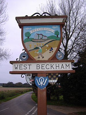 West Beckham - Image: West Beckham Village Sign