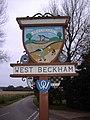 West Beckham Village Sign.JPG