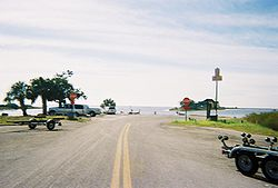 CR 40 boat ramp off the coast of the Gulf of Mexico in Yankeetown, Florida
