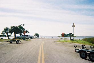 Yankeetown, Florida - CR 40 boat ramp off the coast of the Gulf of Mexico in Yankeetown, Florida